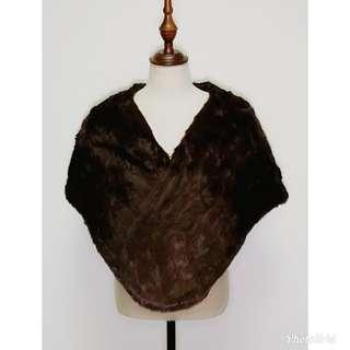 Mink Fur Cape from Wm Galt Sons Glasgow Scotland Luxurious 蘇格蘭 真毛 貂皮 高貴 皮草 披肩