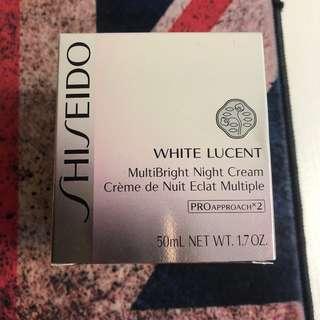 全新 真品 SHISEIDO WHITE LUCENT MultiBright Night Cream