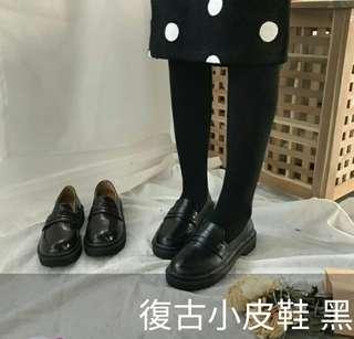 🚚 復古小皮鞋 黑 37號