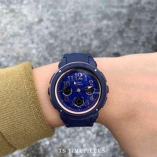 Casio Watch Baby-G Ladies Navy Blue Series BGA-150 BGA-150PG and BGA-150PG-2B2