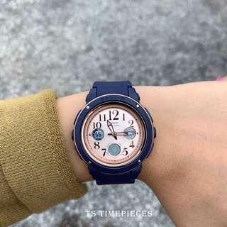 Casio Watch Baby-G Ladies Navy Blue Series BGA-150 BGA-150PG and BGA-150PG-2B1