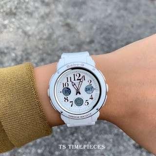 Casio Watch Baby-G Big Face White Sport BGA-150 BGA-150EF and BGA-150EF-7