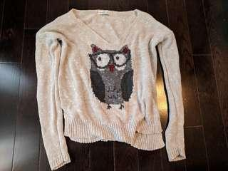 Abercrombie & Fitch Owl Sweater- xs/s