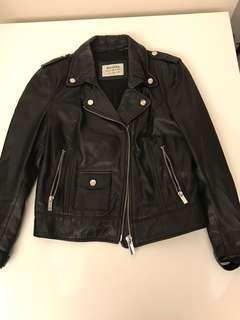 Bershka Black Leather Jacket 黑皮褸