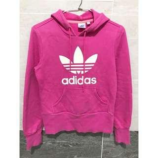 🚚 Adidas 粉紅基本款帽T 34