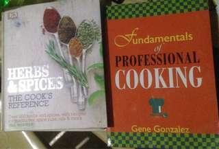 Fundamentals of Professional Cooking and Herbs and Spices Reference Books