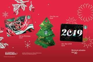 🆕Starbucks® 🇲🇾 2018 Christmas Trio Card