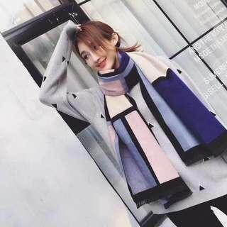 🚚 韓版的羊絨圍巾