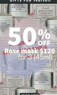 fresh rose mask
