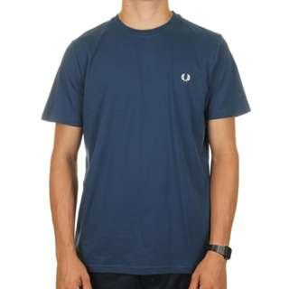 Fred Perry Crew Short Sleeve T-Shirt Tee 墨藍色 男裝 短袖 T恤 即日旺角交收