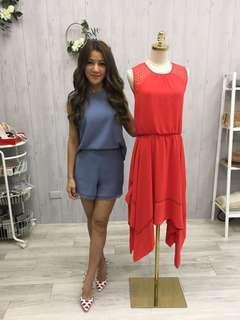 🚚 曾雅蘭捐贈打歌服-無袖紅色長洋裝(僅限7-11超取付款)
