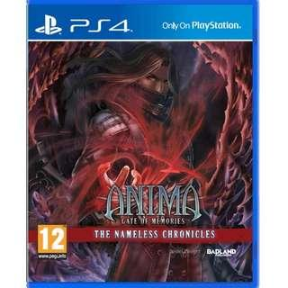 PS4 ANIMA GATE OF MEMORIES : NAMELESS CHRONICLES (R2 EUR)