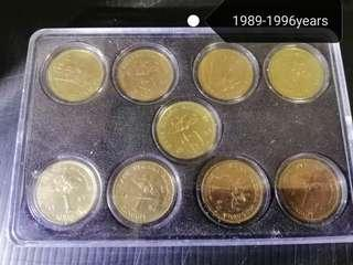 RM1 Old Coin 1989-1996(Total 8pcs)