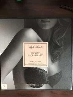 🚚 Victoria Secret Backless lace push-up Bra (Beige)