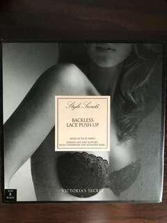 🚚 Victoria Secret Backless Lace Push-up bra (black)