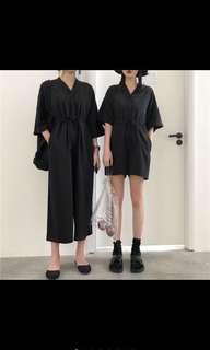 Sale (31/12)— Black short jumpsuit