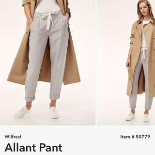 BNWOT Aritzia Wilfred Linen Allant Pant - Ashen