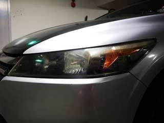 Honda stream rns headlight restore