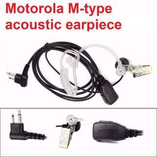 🚚 New arrival! 2 Pin Acoustic Covert Headset Earpiece  For Motorola GP68/GP300 Walkie Talkie C9025A Retevis PTT MIC Noise Reduction K-type