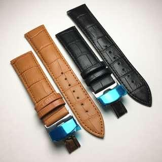 BUTTERFLY LEATHER STRAP
