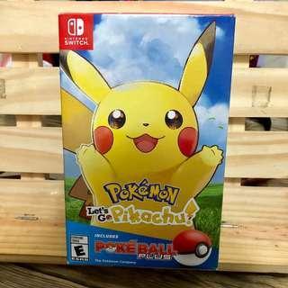 Let's Go Pikachu Pokemon Game with Pokeball Plus