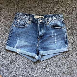 w25 topshop moto denim shorts