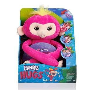 *In Stock* BN WowWee Fingerlings Hugs - Bella (Pink) Advanced Interactive Plush Stuffed Soft Toy Baby Monkey Pet       ~US EXCLUSIVE~