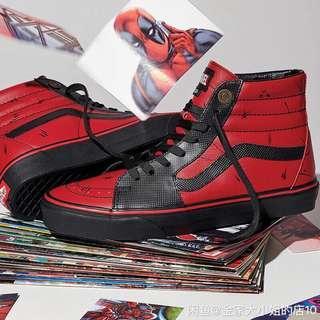 Vans X Marvel Deadpool shoes sneakers