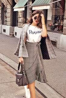 🚚 Plaid Wrap Skirt