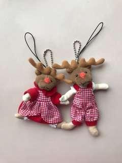聖誕 麋鹿磁鐵吊飾