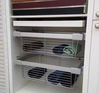 全新Ikea 宜家款 衣櫃伸縮抽屜 櫃桶 收納置物籃 最後三個