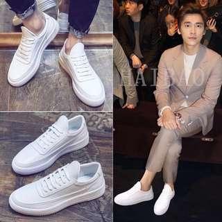 🚚 【 Gshop.】小白鞋男內增高白色板鞋透氣百搭休閒運動鞋