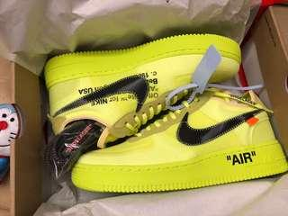 Nike x Off-White Air Force 1 Low volt US9
