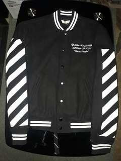 Off-White Abloh Bomber Varsity Jacket Authentic