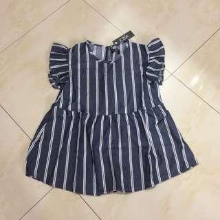Kyva Blue Striped Top