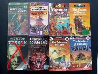 Lone Wolf and Fighting Fantasy gamebooks