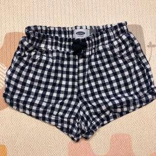 🚚 Old navy 小女童格紋鬆緊帶短褲 - 4T