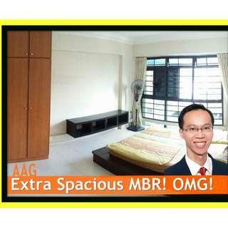 Spacious Master Bedroom for Rent in Woodlands. M'sian welcomed!