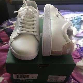 Brand New Lacoste - White and Light Pink Sneakers