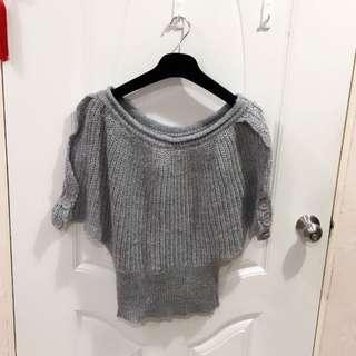 灰色針織罩衫(二手)