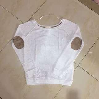 Bershka White Jumper / Sweater