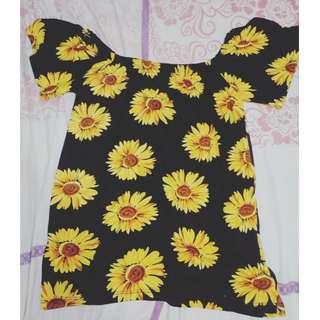 Sun flower off-shoulder