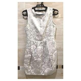 Silver White Gaudi Dress