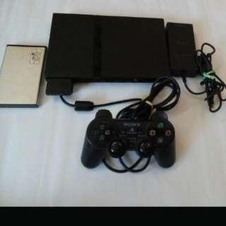 Jail broken PS2 Slim Set (Lens Spoilt)