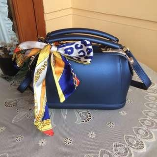 Sky Blue Mini Trapeze Bag