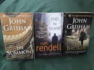2 John Grishman + Ruth Rendell