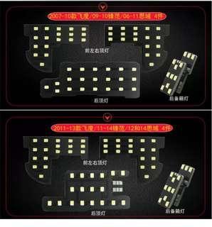 🚚 2011-2014年 本田CITY用室內LED燈 四件組