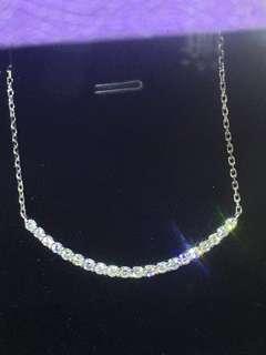 18k白金頸錬3卡21份鑽石有盒可交換
