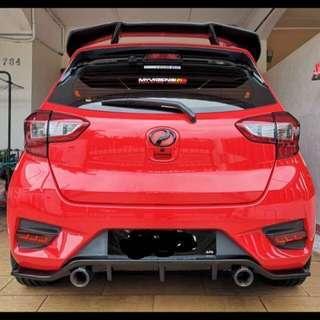 Myvi 2018 Gen 3 rear diffuser (baca description)