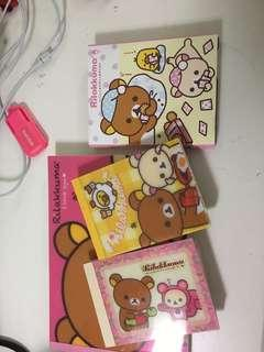 RILAKKUMA stationary notepads !